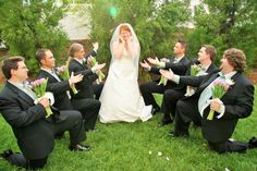 Groomsmen Singing to Bride