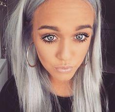 Lottie Tomlinson - lilac hair