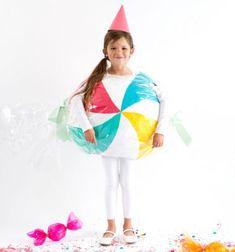 Bon bon candy Halloween costume for kids with paper mache // Színes cukorka jelmez gyerekeknek papírból (papírmaséval) // Mindy - craft tutorial collection // #crafts #DIY #craftTutorial #tutorial #DIYClothesForKids