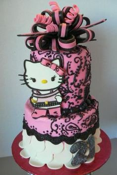 Hello Kitty Birthday Cake by sayara