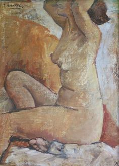 "Pepe Montes ""Desnudo II"" Óleo sobre cartón  74 x 55 cm. Año 1996  Firmado arriba a la izquierda  http://www.portondesanpedro.com/ver-producto.php?id=13032"
