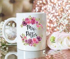 mug, EST. Custom engagement gift mug. Personalized bride to be mug. Funny Coffee Mugs, Coffee Humor, Funny Mugs, Gag Gifts, Gifts In A Mug, Gifts For Mom, Grandma Mug, Mom Mug, Outlander Gifts