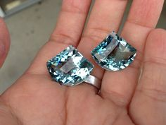 one pairs blue aquamarine drilled top by vlvp on Etsy, $49.95