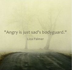 Angry is just sad's bodyguard.