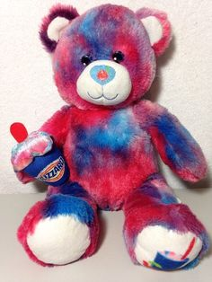 53745cb700b BUILD A BEAR Plush DQ Berry Blizzard Teddy Dairy Queen Ice Cream Cup Tie Dye   BuildABearWorkshop  AllOccasion