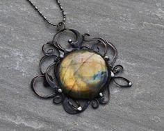 Labradorite pendant elvish jewellery elf elves by OrioleStudio