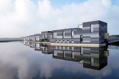 """This residential community was commissioned by a group of water-loving families in the Netherlands. Drijf in Lelystad, which translates to """"Float in Lelystad,"""" was designed by the Amsterdam-based firm Attika Architekten. Construction took place roughly 25 miles outside of the city, and the completed structures, built on concrete caissons, were towed over water to their destination. In total, eight timber-frame homes—all custom made to fit the requirements of each family—were erected for the…"""