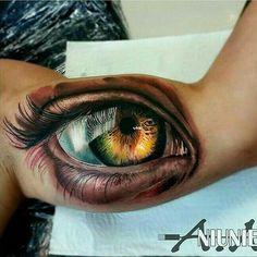 """""""Realistic eye tattoo done byAndrzej Niuniek Misztal#eye #realism #realistictattoo #eyetattoo #tattooed#tattooideas#tattoo#ink#tat#tattoos…"""""""