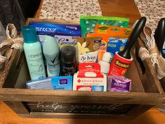 I was at a wedding and in the girls bathroom they had a basket filled with everything. Would you have one at your wedding. Picture of the basket. Diy Bathroom Baskets, Bathroom Basket Wedding, Wedding Reception, Wedding Ideas, Wedding Planning, Wedding Decorations, Campground Wedding, Man Bathroom, Wedding Girl