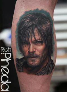 Holy Daryl Dixon!  #thewalkingdead #daryldixon #normanreedus #realistic #tattoo #tattoos