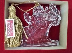 """Marquis By Waterford Santa Claus In Sleigh - New In Box - 3"""" x 3 1/2"""" #Waterford"""