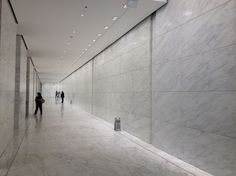 Caldia marble wall and floor panels in a recently remodeled lobby in NYC