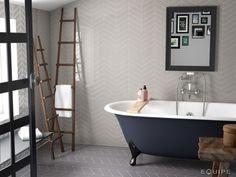 Herringbone Bathroom Wall Tile White Hexagon Mix Ireland