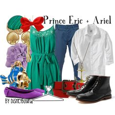Disney Bound - Prince Eric + Ariel ~ Couples ~ The Little Mermaid Disney Couple Outfits, Disney Themed Outfits, Disney Couples, Ariel Disney, Mermaid Disney, Disney Cruise, Disney Guys, Robes Disney, Disney Dresses