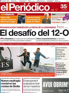 Los Titulares y Portadas de Noticias Destacadas Españolas del 12 de Octubre de 2013 del Diario El Periódico ¿Que le pareció esta Portada de este Diario Español?