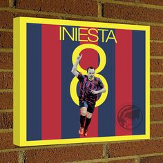Square Canvas Wrap Andres Iniesta Soccer Art Print Barca Soccer Posters wall decor home decor Barcelona print, Barca Football poster by Graphics17 on Etsy