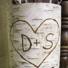 birch bark - J+K---it would be cute!