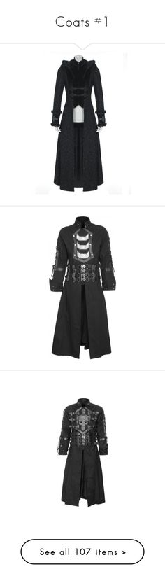 """""""Coats #1"""" by maymchale ❤ liked on Polyvore featuring outerwear, coats, jackets, goth, steampunk, gothic coat, metal coat, goth coat, men's fashion and men's clothing"""