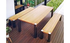 Marquesas Patio Furniture Collection | Plantation teak table tops | 304 Stainless steel frames | 7 Batyline PVC sling colors | Made in Thailand