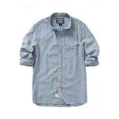 Dobby Stripe Shirt - Blue