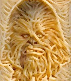 May The 4th Be With You. Chewy spaghetti/noodles. The stomach awakens. #MayThe4thBeWithYou #Chewbacca #StarWars