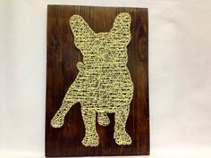 """$42, 8x12"""", String art French Bulldog art of string art for home by OneRoots"""