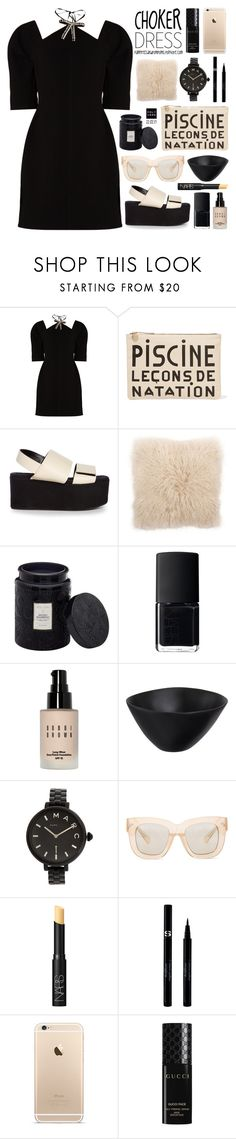 """""""Choker Dresses"""" by palmtreesandpompoms ❤ liked on Polyvore featuring Marni, Clare V., V Rugs & Home, Voluspa, NARS Cosmetics, Bobbi Brown Cosmetics, Tina Frey Designs, Marc by Marc Jacobs, Acne Studios and Sisley"""