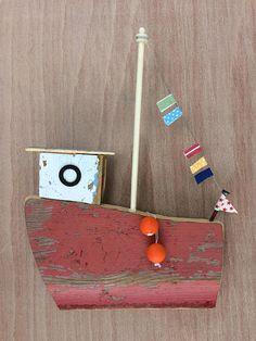 Original Handmade Driftwood 'Fishing Fleet 2' Wall