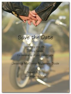 Biker Love - Wedding Invitations by Invitation Consultants. (Item # CC-NY98LE-93 )