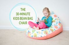 A bean bag chair in 30 minutes? Project Nursery shares a tutorial for a 30 minute bean bag chair that your little one will love!
