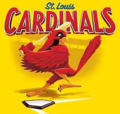 Official illustrator of the STL Cardinal's Scorecard. Sports related commercial art and illustration. Baseball Wall Decor, Baseball Banner, Braves Baseball, Baseball Signs, Baseball Stuff, Baseball Cards, St Louis Baseball, St Louis Cardinals Baseball, Cardinals Game