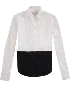 PRINGLE OF SCOTLAND • Color block shirt