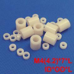12.40$  Buy here - 200pcs M4 4.2*7*28 4.2x7x28 4.2*7*30 4.2x7x30 ID*OD*L ABS Plastic Nylon Round Column Tube Insulation Shim Washer Standoff Spacer  #magazine