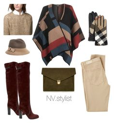 """Уютный кейп для стильной бизнес-леди)"" by nv-stylist on Polyvore featuring мода, WearAll, AG Adriano Goldschmied, Massimo Dutti, Burberry, MARC CAIN, J.Lindeberg, Sergio Rossi, women's clothing и women's fashion"