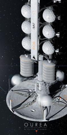 Sci fi concept art building space ship 55 Ideas for 2019 Spaceship Design, Spaceship Concept, Concept Ships, Concept Art, Space Projects, Space Crafts, Sci Fi Spaceships, Space Engineers, Sci Fi Ships