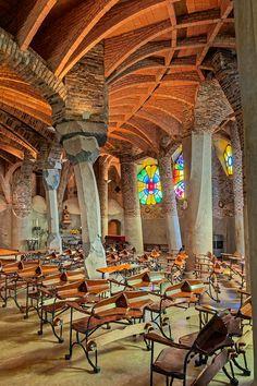 david cardelús photographs gaudi crypt near barcelona