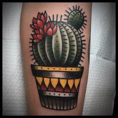 Cactus tattoo bolita