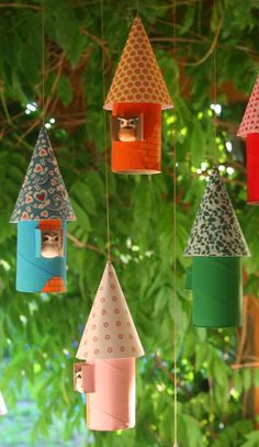 homemade owl nests ornaments #craft #recycle #diy