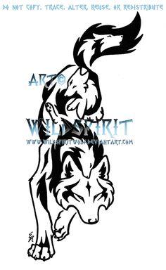 Leaping Emotion Wolf Tattoo by WildSpiritWolf.deviantart.com