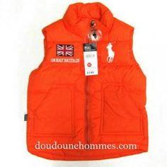 Gilet doudoune ralph lauren pas cher enfant Flag Britain orange