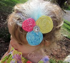 Polka Dot Couture rosette headband by PixieDustBoutique on Etsy