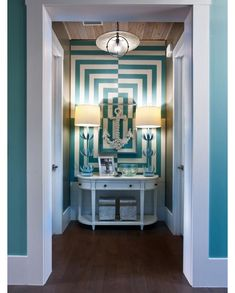 HGTV Smart Home 2013 – Alcove featuring Sherwin-Williams paint colors Drizzle (SW 6479), Pure White (SW 7005) and Zeus (SW 7744)