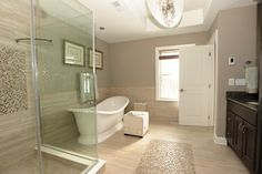 freestanding soaking tub in corner of master bath - Google Search