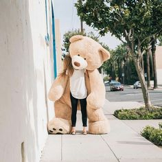 Mackenzie Schmutz Captures Stunning Photos of Her Giant Teddy Bear Huge Teddy Bears, Giant Teddy Bear, Big Bear, Teddy Girl, Teady Bear, Teddy Bear Pictures, Bear Wallpaper, Bear Toy, Mellow Yellow