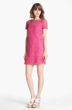 Lilly Pulitzer® 'Marie Kate' Lace Cotton Shift Dress available at #Nordstrom