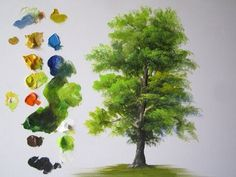 How to paint a tree in Acrylics lesson 3 - YouTube