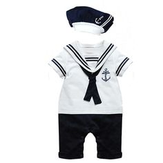 Baby Boy Girl Sailor 1 Pc Romper Suit Grow Summer Marine Outfit 2 Colours M Baby Boy Clothes Hipster, Baby Boy Clothing Sets, Baby Outfits Newborn, Baby Boy Outfits, Baby Newborn, Marine Outfit, Estilo Navy, Girls Rompers, Baby Rompers