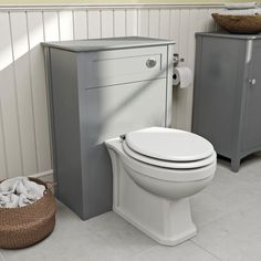 Camberley Grey Back To Wall Toilet Unit VictoriaPlum.com