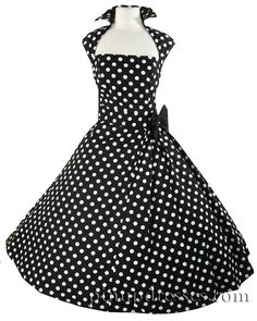 rockabilly wedding dress patterns | Black Rockabilly Dress by Janny Dangerous. I need this is just black!