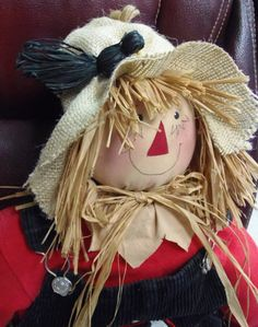 Fall Scarecrow 30 inches by SunshineAnnies4U on Etsy                                                                                                                                                                                 More